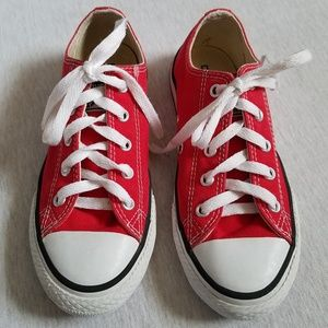 Converse sneakers  red canvas kids unisex 1